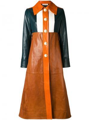 Пальто дизайна колор-блок Marni. Цвет: многоцветный