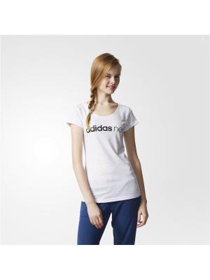 Футболка спортивная жен. W CE NEO  T Adidas. Цвет: белый