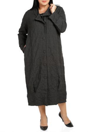 Пальто Milanesse. Цвет: серый