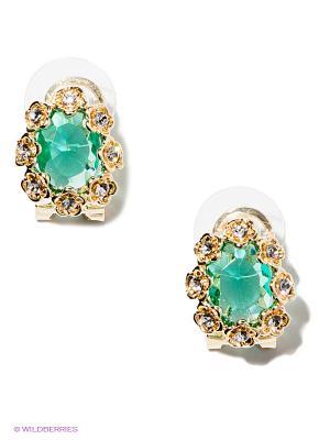Серьги Royal Diamond. Цвет: зеленый, золотистый
