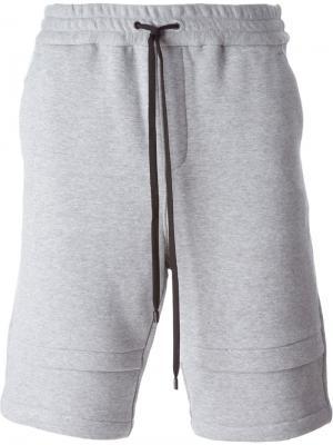 Double hem track shorts Public School. Цвет: серый