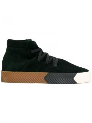 Кроссовки Skate Adidas Originals By Alexander Wang. Цвет: зелёный
