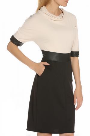 Универсальное легкое платье LEIDIRO. Цвет: черный, бежевый