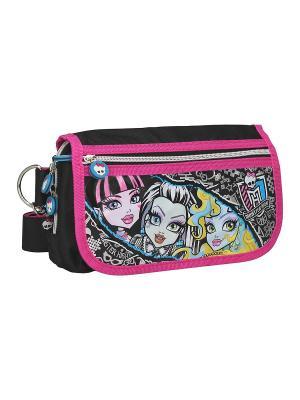 Сумка Monster High. Цвет: розовый, черный