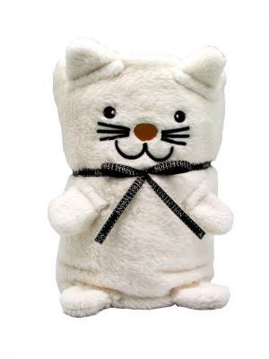 Трансформер Плед-Игрушка Белый Котик 60x90 см Склад Уникальных Товаров. Цвет: белый
