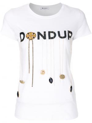 Футболка Gipsy Dondup. Цвет: белый
