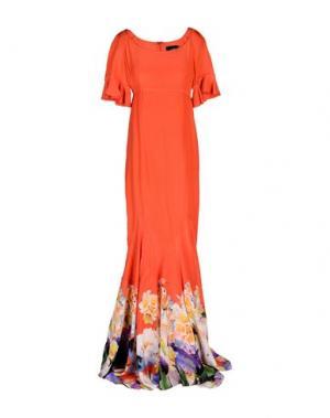Длинное платье CLASS ROBERTO CAVALLI. Цвет: коралловый