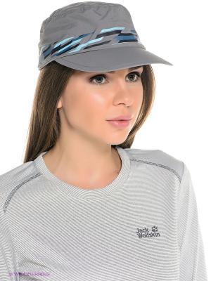 Кепка SUPPLEX CAP WOMEN Jack Wolfskin. Цвет: серый
