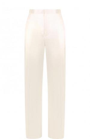 Однотонные брюки из вискозы со стрелками Givenchy. Цвет: белый