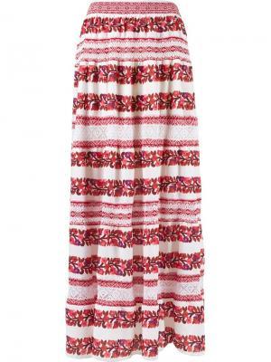 Knit maxi skirt Cecilia Prado. Цвет: красный