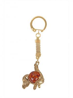 Брелок Рыбка с шаром Aztek. Цвет: бронзовый, светло-оранжевый, желтый, коричневый