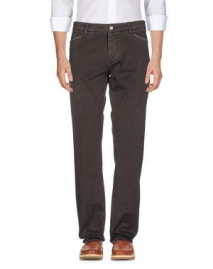 Повседневные брюки D-21. Цвет: темно-коричневый