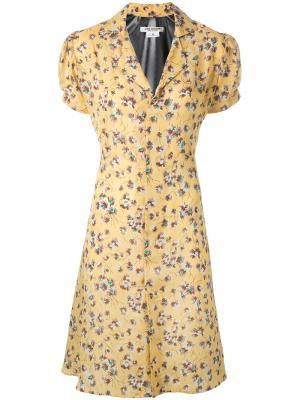 Платье с растительным принтом Junya Watanabe Comme Des Garçons. Цвет: жёлтый и оранжевый