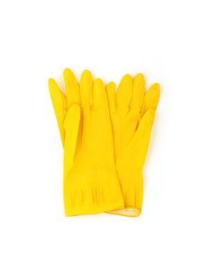 Перчатки резиновые желтые S Vetta. Цвет: желтый