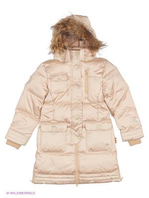 Пальто NELS. Цвет: кремовый, темно-бежевый