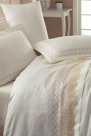 Двуспальный комплект белья Cotton box. Цвет: бежевый