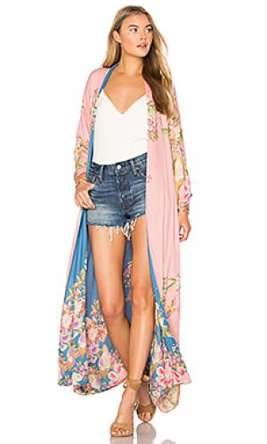 Blue skies luxe reversible kimono Spell & The Gypsy Collective. Цвет: розовый