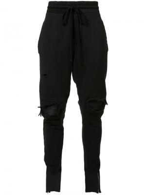Спортивные брюки с рваными деталями Amiri. Цвет: чёрный