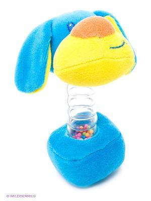 Развивающая игрушка Гантелька Ферма Amico. Цвет: голубой, желтый