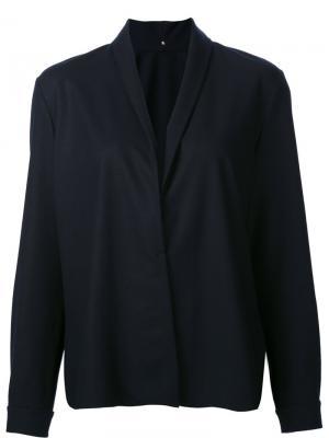 Блузка с V-образным вырезом Peter Cohen. Цвет: синий