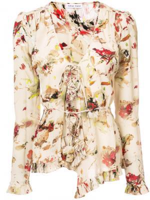 V-neck floral blouse Tomas Maier. Цвет: телесный