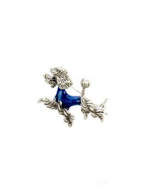 Брошь Bijoux Land. Цвет: серебристый, синий