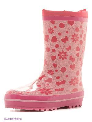 Резиновые сапоги Зебра. Цвет: розовый