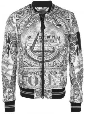 Куртка-бомбер  Albert Philipp Plein. Цвет: белый
