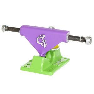 Подвески для скейтборда пластборда 2шт.  22 inch Purple/Green 3.25 (15.2 см) Вираж. Цвет: светло-фиолетовый,зеленый