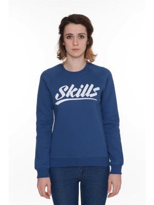 Свитшот SKILLS College женская. Цвет: темно-синий, синий