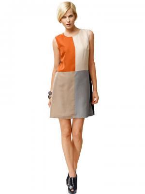 Платье ALBA MODA. Цвет: черный, бежевый, оранжевый, серый