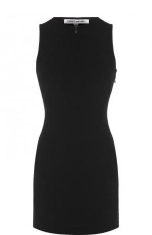 Однотонное мини-платье без рукавов Elizabeth and James. Цвет: черный