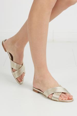 Кожаные сандалии Lassie Tabitha Simmons. Цвет: кремово-золотой