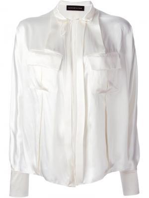 Рубашка со шнуровкой Alexandre Vauthier. Цвет: белый
