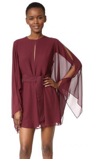 Платье с открытой спиной Step Keepsake. Цвет: инжир