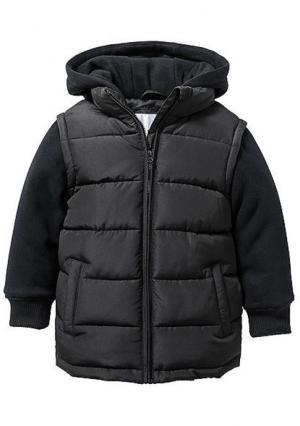 Стеганая куртка. Цвет: черный