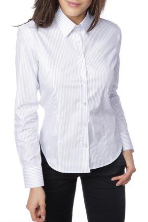 Рубашка GAZOIL. Цвет: белый, голубой