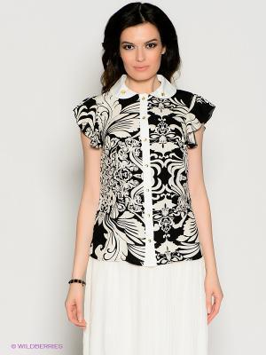 Блузка Valeria Lux. Цвет: кремовый, черный