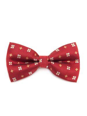 Галстук-бабочка Churchill accessories. Цвет: красный, желтый, белый
