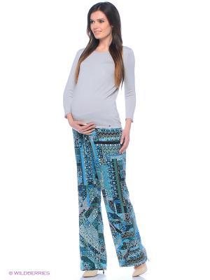 Брюки для беременных ФЭСТ. Цвет: зеленый, серый