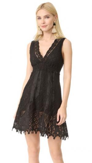 Короткое платье с V-образным вырезом Temptation Positano. Цвет: голубой