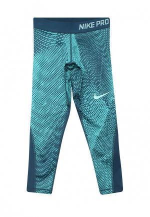 Тайтсы Nike. Цвет: бирюзовый