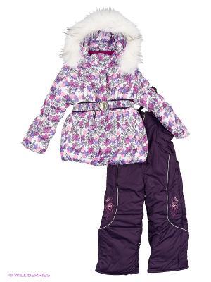 Комплект для девочки Rusland. Цвет: фиолетовый, белый