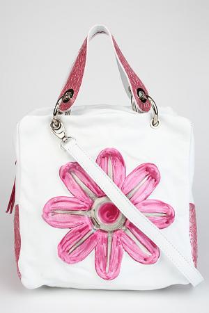 Сумка Longobardi. Цвет: розовый, белый