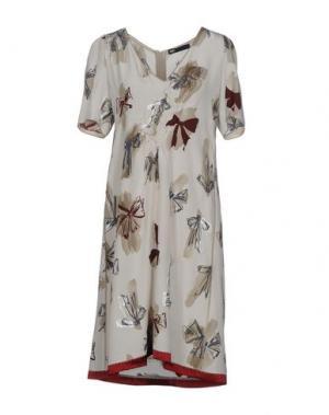 Короткое платье 6267. Цвет: бежевый