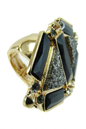Кольцо Taya. Цвет: золотистый, черный