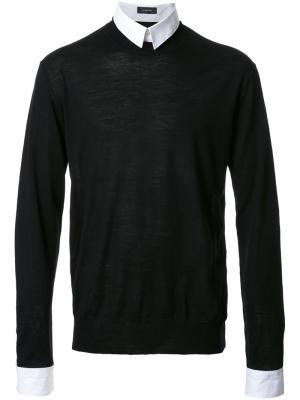 Свитер-рубашка Undercover. Цвет: чёрный