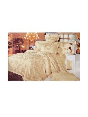 Комплект постельного белья 3 предмета HAMRAN. Цвет: золотистый