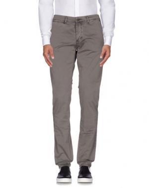 Повседневные брюки YES ZEE by ESSENZA. Цвет: свинцово-серый