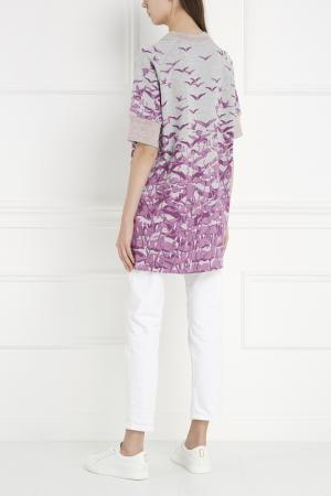 Хлопковый топ Giamba. Цвет: белый, пурпурный, розовый